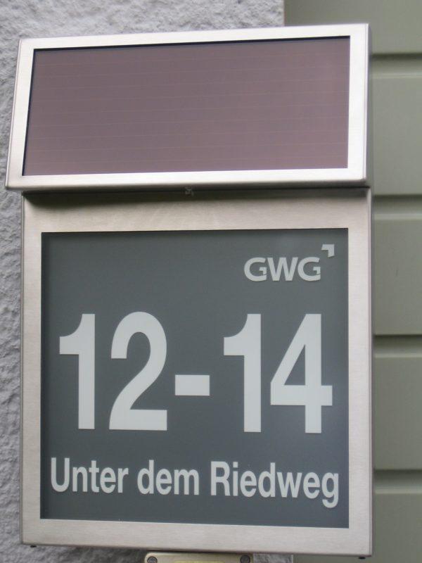 Fotobeispiel Solarhausnummer