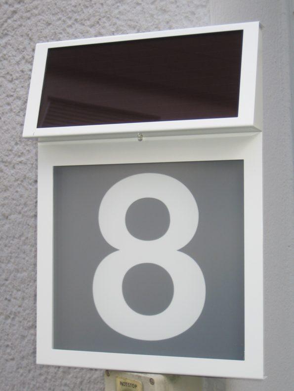 Solar-Hausnummer Modell VERA